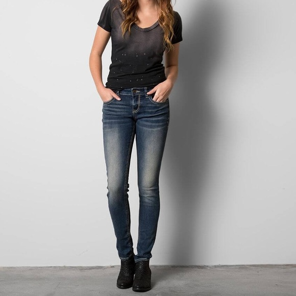 Buckle Black Superior Stretch Skinny Jeans Size 25